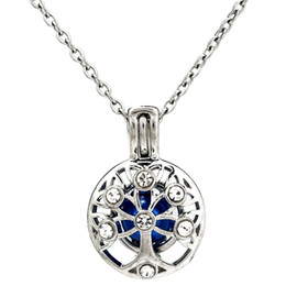pearl tree life 2019 - Silver Beauty Tree of Life Hollow Essential Oil Diffuser Locket Women Aromatherapy Beads Pearl Oyster Cage Necklace Pend