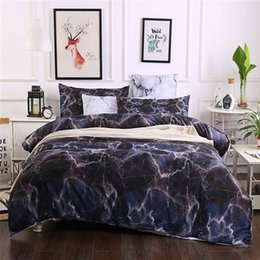 Discount beautiful king size bedding - Nordic Minimalist Style Bedding Set Queen Size Marbling Pattern Beautiful Bedclothes 2 3pcs Quilt Cover King Soft Home T