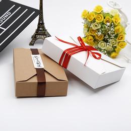 kraft envelope box 2019 - Kraft Paper Cardboard Gift Boxes Envelope Style Baking Box Mooncake Packing Box White&Brown cheap kraft envelope box