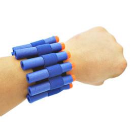 Discount children guns bullet - Elastic wrist band storage soft bullets for Nerf Gun Children toy Latest