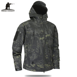 MulticaM caMouflage clothing online shopping - Mege Brand Clothing Autumn Men S Military Camouflage Fleece Jacket Army Tactical Clothing Multicam Male Camouflage Windbreakers
