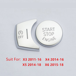 Discount bmw f25 - Chrome ABS Car Engine Start Stop Buttons Sequins Cover Trim 2pcs For BMW X3 F25 X4 F26 X5 F15 X6 F16 Interior Accessorie