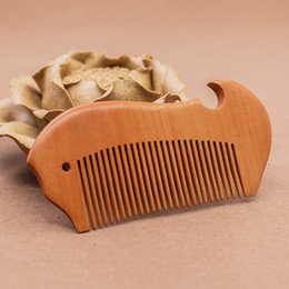 hair comb manufacturers 2019 - Wooden comb manufacturer boutique carved peach wood comb, promotional gifts, custom hair comb Wholesale, cute appearance
