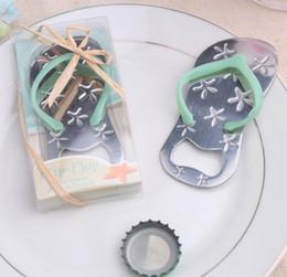 Discount pirated movie wholesaler - 10*5.3*1.3cm Beach Flip Flops Bottle Opener Corkscrew Bridal Shower Wedding Favors Souvenirs For Guests