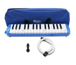 Discount melodica organ Mouth organ 32 key students children beginner adults professional playing instruments blowing pipes and blowing mouths O