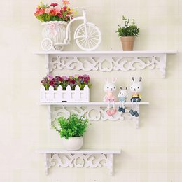 Wall decor bamboos online shopping - Shoe Rack Pvc Wood Plastic Plate Simple Wall Stacks Flower Frame Clapboard Wall Hanging Shelf Rack Decor Storage Holder hx3 gg