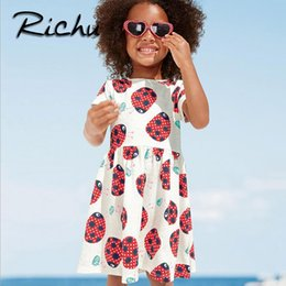 Wholesale Richu girls clothes summer body suits baby girl infant dress for girls striped High Quality Costume Kid s Dress jumpsuits one piece