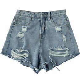 Discount zipper jean shorts - 2018 new Summer Jeans Shorts Hole Ripped Women Casual Trouser High Waist Sexy Denim Shorts For Women