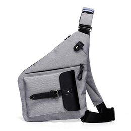 Waterproof sling pack online shopping - Men Waterproof Oxford Fashion Sling Chest Bag Male Cross Body Bag Travel Day Pack Messenger Shoulder Bags