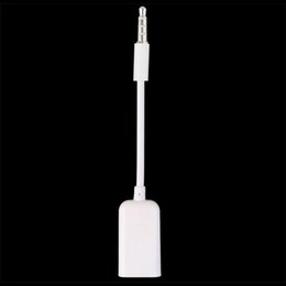 Mp3 car jack online shopping - 3 mm Male AUX Audio Plug Jack To USB Female Converter Cord Cable Car MP3