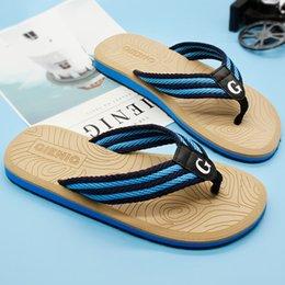 platform rubber slippers 2019 - Gienig 2018 new men's slippers flip flops with the summer platform sandals Beach male slippers Outdoor fashion Sand