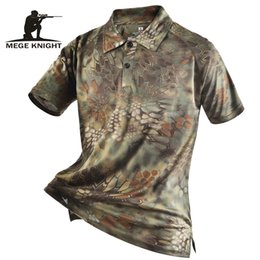MulticaM caMouflage clothing online shopping - Mege Brand Clothing Men S Shirts Tactical Camouflage Polo Shirt Summer Casual Clothing With Patches Typhon Multicam Fast Dry