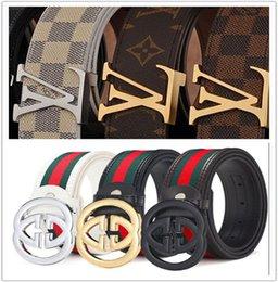 Discount mens belts top brands - 2018 mens women designer belts brand belt luxury belt for men G buckle belt top fashion mens leather belts designer belt
