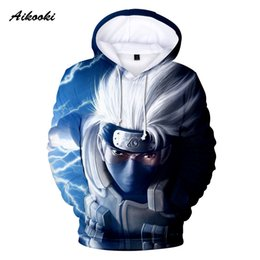 Discount naruto pop - Naruto Mens Hoodies Fashion Stranger Things Men Womens Pop Pullovers Sweatshirts Cool 3d Print Autumn Male Casual Hoodie