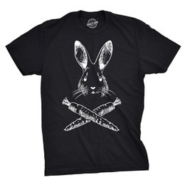 egg shirt 2019 - Jolly Roger Easter T Shirt Funny Bunny Skull Crossbones Egg Tee summer o neck tee, free shipping cheap tee,2019 hot tees