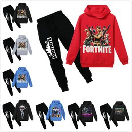 Wholesale New Spring Autumn Fortnite Boys Clothes Long Sleeve T Shirt Pants Sport Suit Kids Girls Clothing Set Infant Clothing