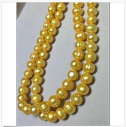 35 inch south sea pearls online shopping - HUGE NATURAL AAA MM SOUTH SEA GOLDEN PEARL NECKLACE INCH K GOLD