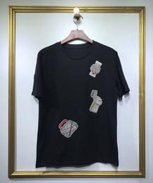 Fashionable mens online shopping - 2019 brand fashion luxury designer mens Watch handbag badge embroidery Fashionable Round Neck T shirts Men s short sleeve T shirt