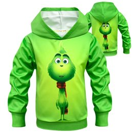 Wholesale Boys Girls How the Grinch Stole Christmas hoodie New Children Cartoon grinch Long sleeves t shirt Hoodies Baby kids clothing B
