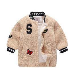 red military long jackets 2019 - good qulaity baby girls winter jackets warm faux fur fleece coat children jacket outerwear kids jacket for girls clothin