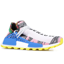 Racing shoes men online shopping - PW Hu Holi Trail X Human Race Pharrell Williams Mens Running Shoes Youth Peace Creme Nerd BBC Solar Pack Womens Trainers Sports Sneakers