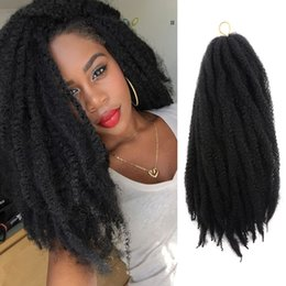marley hair 2019 - Marley Braids Hair Extension Ombre Afro Curly Synthetic Crochet Kanekalon Braiding Hair Weave 18strands pack Synthetic H