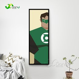 Batman cartoon hero online shopping - ecor wall pictures Canvas Print Modern Painting Poster Super Hero Superman Batman Cartoon Home Decor Wall Pictures For Living Room Unfram