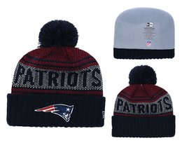 Chinese  Men's New England Patriots New Navy 2018 Sideline Cold Weather Official Sport Sideline Cold Weather Official TD Knit Hat manufacturers