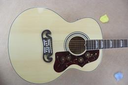 guitar factory customs 2019 - OEM Factory Custom 43 inches Natural Not cutaway Spruce rosewood Fretboard 200 model SJ classic acoustic guitar hardcase
