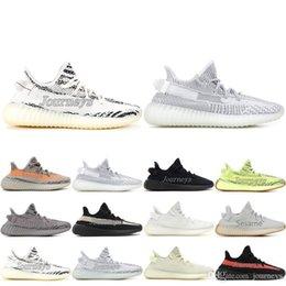 Red lace up boots online shopping - Designer V2 Kanye West New Butter Sesame Cream White Blue Tint Beluga Black Red Bred Designer Mens Running Shoes