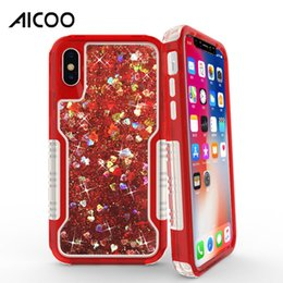 Crystal mints online shopping - Bling Crystal Liquid Glitter Case Shiny In TPU PC Hybrid Quicksand Cover for iPhone X s Plus Samsung S9 S8 Plus Note J3 J7 OPP