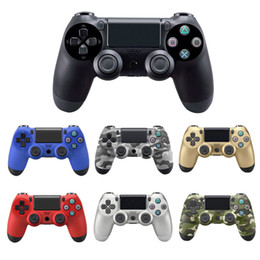 Discount ps4 gamepad - Bluetooth Wireless PS4 Controller Vibration Joystick Gamepad Game Controller for Sony Play Station With LOGO Without Pac
