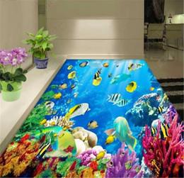 World moulds online shopping - Custom Wallpaper D Submarine World Beautiful Coral Living Room Bathroom D Floor Interior Mural Wallpaper