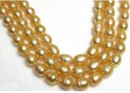 35 inch south sea pearls online shopping - INCH HOT MM NATURAL SOUTH SEA GOLDEN PEARL NECKLACE