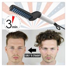 Man fcc online shopping - Multifunctional Men Hair Styling Comb Brush Curling Iron Hair Volumize Flatten Side And Straighten Hair Curler Quick Styler For Men