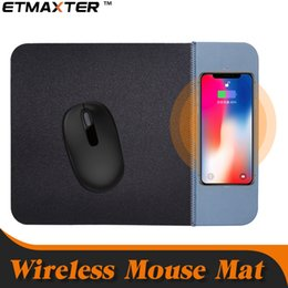 Discount custom wholesale phones - For iPhone8 X Wireless Charger Mouse Pad 5V 1A QI Mobile Phone Wireless Charger PU Mousepad