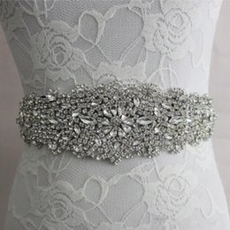 pearl belts for dresses 2019 - Wedding Sashes Handmade Luxurious Beads Rhinestone Crystals Wedding Belt for Weddings Dresses in Stock Factory Supplier