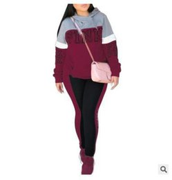 Wholesale Fashion women s PINK Letter Tracksuits Jogger Autumn Style Clothing Love Pink Letter Outdoor SweatShirt Trousers Hooded Clothe