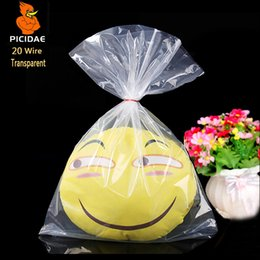 Discount frozen toys - 20 wire 22x32cm PE Transparent packaging plastic Storage Open pocket Flat bag Frozen cosmetic powder quilt toy Home food