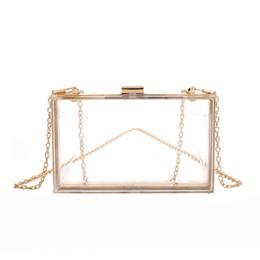 Discount simple evening clutch bags - Fashion Transparent Style Simple Casual Acrylic Chain Women Handbag Purse Party Evening Shoulder Bag Wallet Mini Flap 4