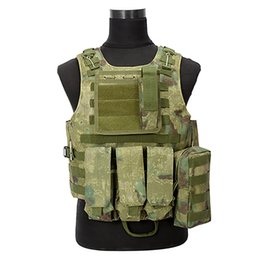 China Camouflage Hunting Tactical Vest Wargame Body Molle Armor Hunting Vest CS Outdoor Equipment with 5 Colors cheap body armor vests suppliers