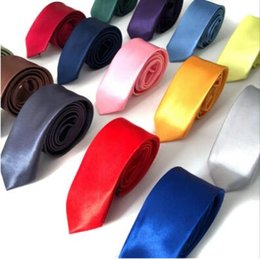 Handmade necktie online shopping - Solid Neck Tie Casual Skinny Men Polyester Colorful cm cm Classic Men Handmade Neck Ties Skinny Wedding Party Necktie CCA10957
