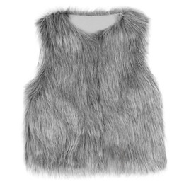 cheap branded kids clothes 2019 - Cute Girls Waistcoat Fur Vest Warm Vests Sleeveless Coat Children Cheap Outwear Winter Coat Baby Clothes Kids Clothing G