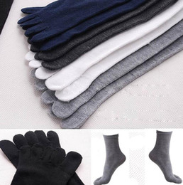 Wholesale Five Fingers socks men Solid Breathable Autumn Soft Casual Business Socks Casual Men Sport Five Fingers Toe Sock KKA6563