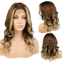 Discount 18 human hair highlighted wig - Highlight Color #6 #27 Full Lace Human Hair Wigs Brazilian Lace Front Human Hair Wigs With Baby Hair Wig