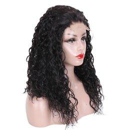 Chinese  Beauty On Line Water Wave Wig Malaysian Virgin Human Hair Lace Front Wigs Natural Color 4*4 U Part Lace Frontal Human Hair Wigs manufacturers