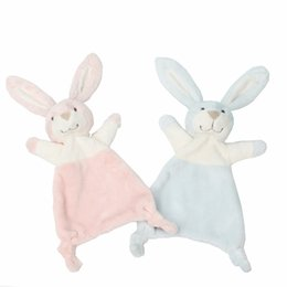 Chinese  Cute Rabbit Plush Doll Comfort Towel Soft Appease Dolls Stuffed Animal Bunny Toys Baby Playmate Sleeping Toy manufacturers