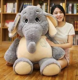 AnimAl comfort dolls online shopping - Gentle dream elephant large elephant plush doll toy Stuffed Plush Animals holiday gift baby sleeping comfort doll LJJK1179