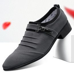 Discount classic british shoes - Men Wedding Dress Shoes italian Classic Business Office Oxford Shoes Men formal Flats 2019 British Style Plus Size 38-48