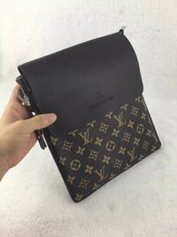 Mens black leather clutch bags online shopping - 123 old flower briefcase business package shoulder bag clutch handbag luxury mens crossbody package messenger package handbag